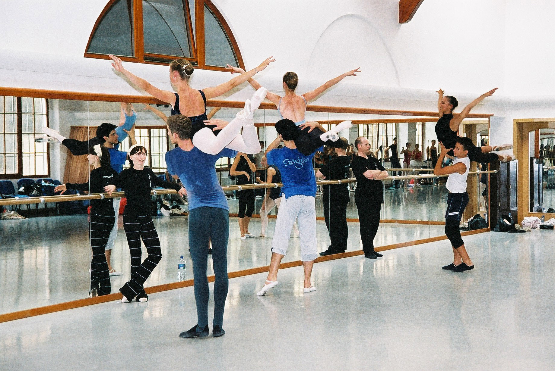 Daria coaching pas de deux with Greg Horsman