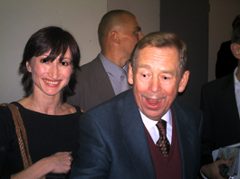 Daria Klimentova with Vaclav Havel