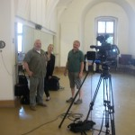 Martin Kubala TV director and crew